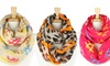 Animal and Hashtag Print Infinity Scarves: Animal and Hashtag Print Infinity Scarves