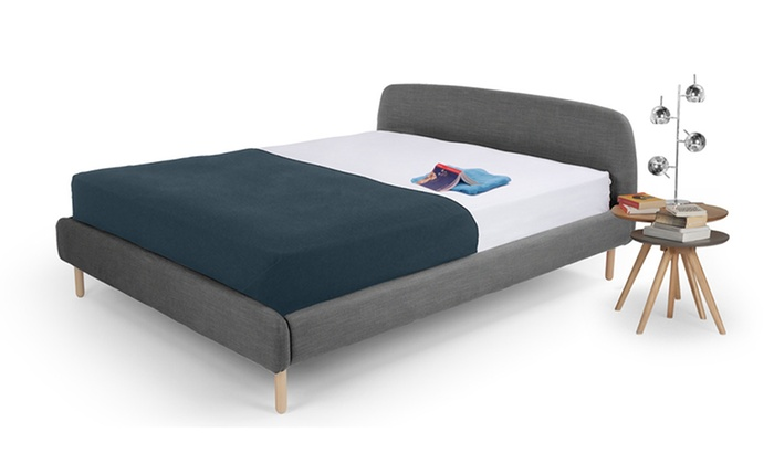 scandinavian fabric bed frame | groupon goods