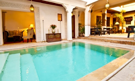 Marrakesh: 1 to 7 Nights for Two with Breakfast, Hammam Steam Bath, Body Scrub and Optional Dinner at Riad Aladdin