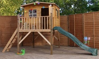 Mercia Playhouse or Tower Playhouse with Option for Slide and Swing