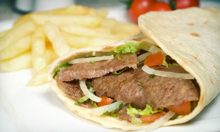 The Mad Greek - Beachwood: Three or Five Salads or Sandwiches at The Mad Greek (Up to 57% Off)
