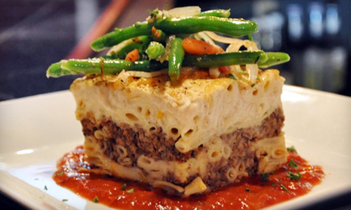 The Mad Greek - Cleveland Heights: Four-Course Greek and Indian Dinner for Two or Four at The Mad Greek (Up to 57% Off)