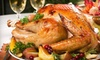 Pimento Jamaican Kitchen: $95 for a Thanksgiving Dinner for Up to Eight from Pimento Jamaican Grille ($190 Value). Five Delivery Times Available.
