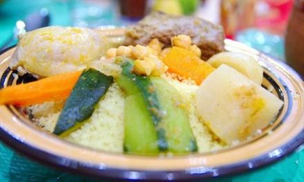 Menu en 2 ou 3 services au choix avec thé à la menthe pour 2 personnes dès 24,90 € au restaurant Chez Gida