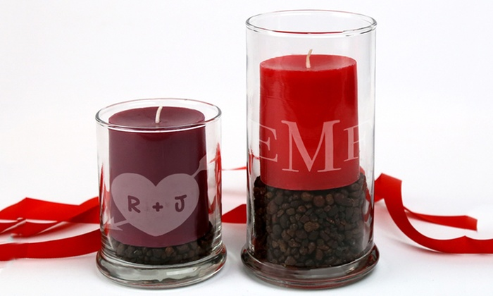 Monogram Online: Monogrammed Candle Holders from Monogram Online (Up to 77% Off). Five Options Available.