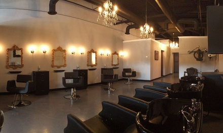 Highlights and Blow-Dry from Mirror Mirror Salon & BlowDry Bar (56% Off)