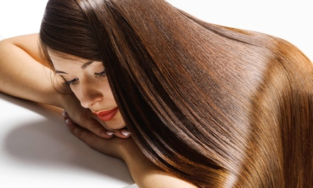 Brazilian Keratin Treatment with Optional Haircut at Steven Mata Hair Studio (Up to 68% Off)