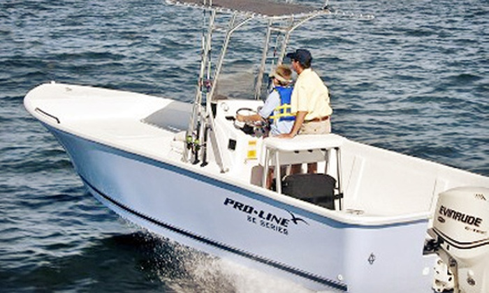 Atlantis V Charters - Belle Harbour Marina: Four-, Six-, or Eight-Hour Inshore Fishing Trip for Two with Equipment and Drinks from Atlantis V Charters (Half Off)