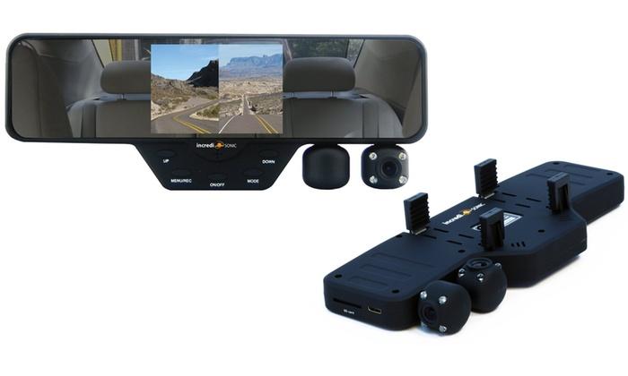 Falcon Zero F360 HD Car Rear-View Mirror Dash Cam with 2 Built-In Cameras