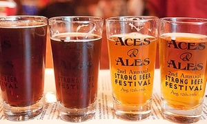 Aces and Ales: Gourmet Pub Food and Drinks at Aces & Ales (Up to 40% Off). Three Options Available.