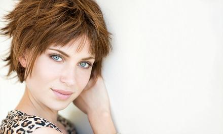 Komplett-Damenhaarschnitt für mittellanges Haar, opt. Calligraphy Cut, bei Eva M by Ipura Day Spa (bis zu 68% sparen*)