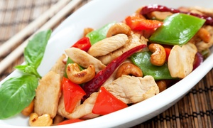Szechuan One: Two or Four Chinese or Thai Entrees with Wine at Szechuan One (Up to 31% Off)