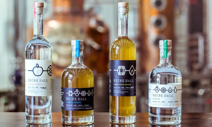 Rhine Hall Distillery - West Town: Tour for Two or Four with Fruit Brandy Flights and Souvenir T-Shirts at Rhine Hall Distillery (Up to 51% Off)