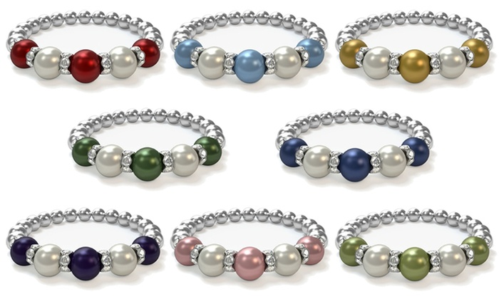 swarovski dream beads p product bracelet crystal with flower pearls