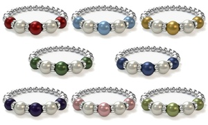 Pearls by Laurel: $19.95 for a Custom Mother's Bracelet with Swarovski Pearls ($42.85 Value)