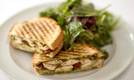 Paninis, Gelato, and Gourmet Coffee at Cafe Gelato & Panini (Up to 75% Off). Three Options Available.