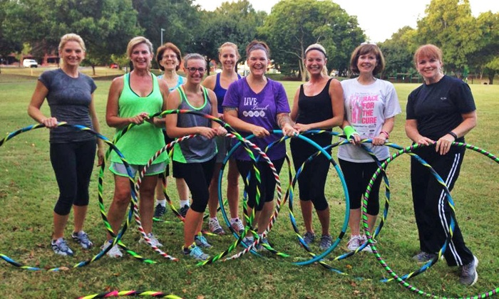 Happy Hoops - Multiple Locations: Four Weeks of Hula-Hoop Fitness Classes for One or Two at Happy Hoops (Up to 59% Off)