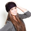 D&Y Women's Cable-Knit and Rounded-Stud Head Wraps