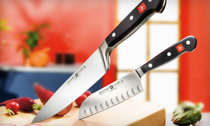 Eversharp - Mid-City Industrial: $28 for Sharpening for 10 Knives and a Wusthof Handheld Sharpener at Eversharp (Up to $69.95 Value)