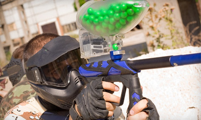 Warpaint International - Multiple Locations: All-Day Paintball Outing for One, Four, or Ten at Warpaint International in Salem (Up to 63% Off)