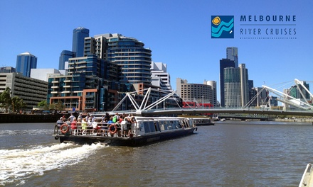 Sightseeing Cruise: 1 $9 or 2 $17 Kids $8, 1 $17 or 2 Adults $32 or Family $48 from Melbourne River Cruises