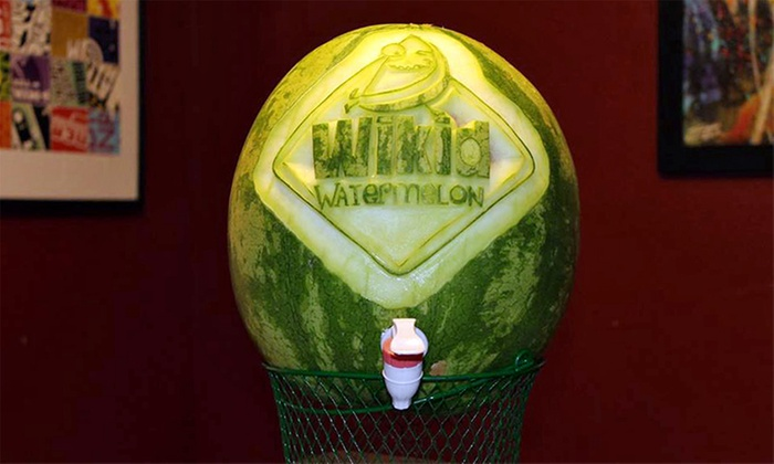 Wikid Watermelon - Compark 75:  One or Two Customized Carved Watermelon Kegs with Watermelon Nojito Mixer from Wikid Watermelon (Up to 54% Off)
