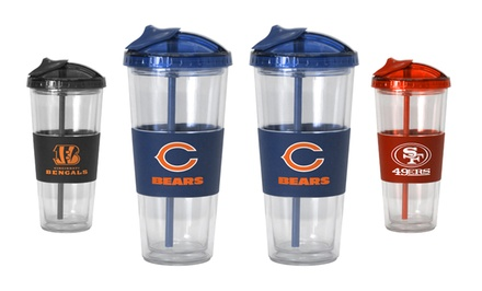 2-Pack of NFL No-Spill Straw Tumblers. Multiple Teams Available. Free Returns.
