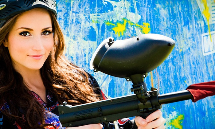 Paintball International - Multiple Locations: All-Day Paintball Package with Equipment Rental for 4, 6, or 12 at Paintball International (Up to 87% Off)