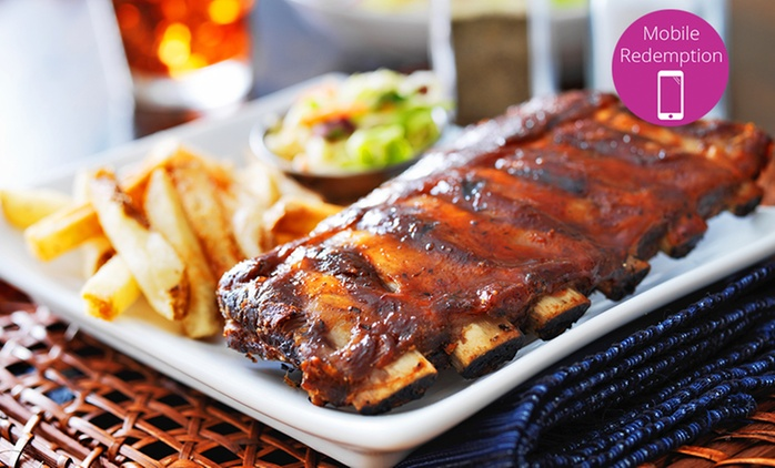 All-You-Can-Eat BBQ Pork Ribs for Two ($35), Four ($65) or Six People ($95) at Lowlander Bar & Grill (Up to $251 Value)
