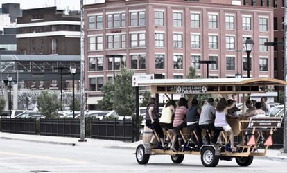 image for Pedal Pub Tour for Eight People from Great Lakes Pub Cruiser (Up to 59% Off). 44 Options Available.