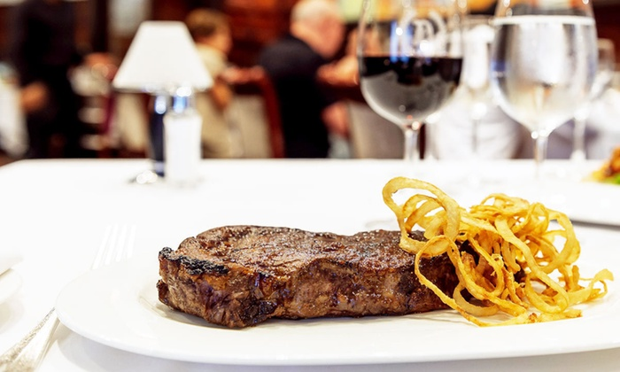 Delmonico's Restaurant - Financial District: $100 for a Four-Course Steakhouse Dinner for Two in Historic Setting