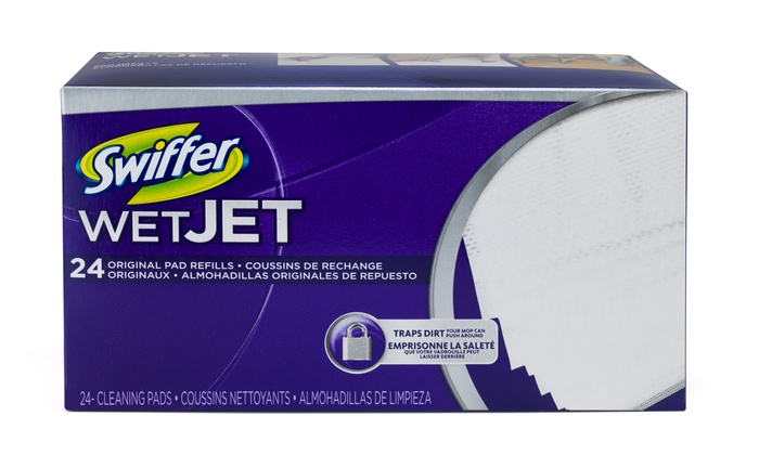 Swiffer WetJet Pads (4-Pack): Swiffer WetJet Cleaning Pad Refills; 4-Pack of 24ct. Boxes + 5% Back in Groupon Bucks