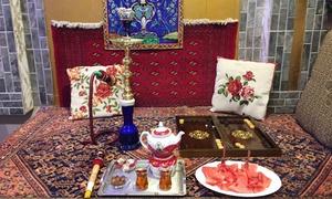 Sufi: Rituale del tè persiano con narghilè per 2 o 4 persone al caffè persiano Sufi, zona parco Trotter (sconto fino a 30%)