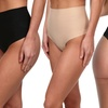 Women's High-Compression High-Waisted Control Thong (4-Pack)