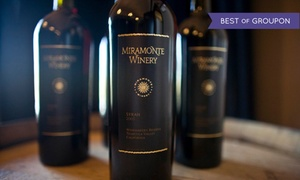Miramonte Winery: VIP Winery Tour and Tasting Experience for One, Two, or Four at Miramonte Winery (Up to 77% Off)