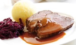Restaurant im Zwinger zu Goslar: Original Räubermahl mit 5-Gänge-Menü, Met und Trinkhorn für Zwei oder Vier im Restaurant im Zwinger zu Goslar