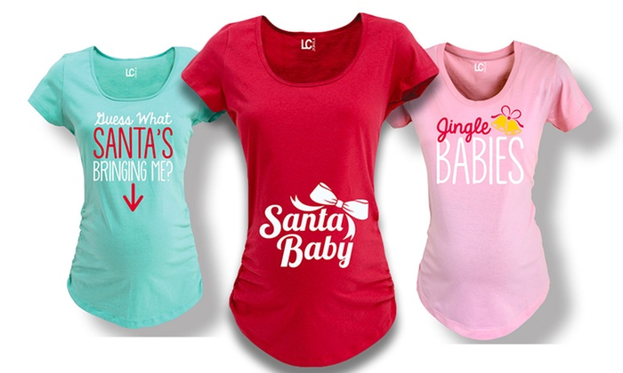 Women's Christmas Humor Maternity T-Shirts | Groupon