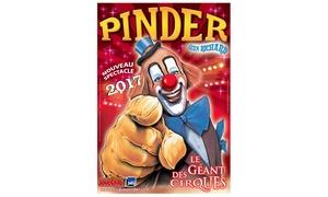 Cirque Pinder: 1 place orchestre pour une représentation du cirque Pinder, date et heure au choix à Poitiers à 15 €