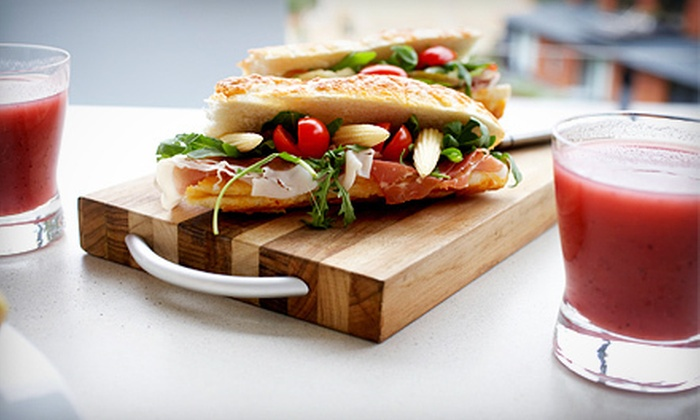 Pure Health Lounge - Byward Market - Parliament Hill: One or Two Sandwiches and Medium Fruit Smoothies at Pure Health Lounge (Up to 54% Off)
