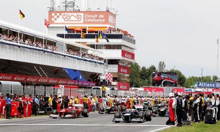 Circuito Montmeló: Entrada de 3 días al Gran Premio de Formula 1 y 1-3 noches de alojamiento con desayuno/media pensión