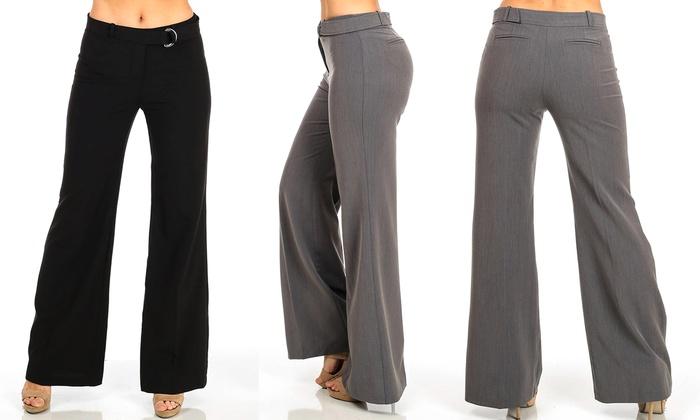 Juniors' Low-Rise Dress Pants