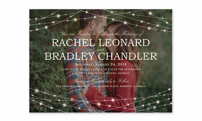 shutterfly wedding invitations from shutterfly up to 52 off - Groupon Wedding Invitations