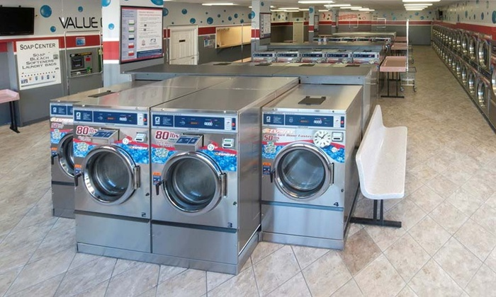 Blue Bubble Express Laundry - Blue Bubble Express Laundry: $13 for $25 Self-Service Laundry Voucher at Blue Bubble Express Laundromat. Three Locations Available.