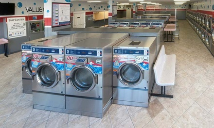 $13 for $25 Self-Service Laundry Voucher at Blue Bubble Express Laundromat. Three Locations Available.