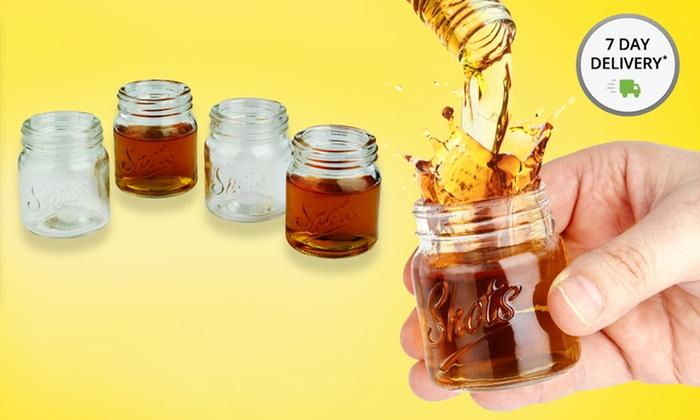 Set of 4 Mason Jar Shot Glasses: Set of 4 Mason Jar Shot Glasses. Free Returns.