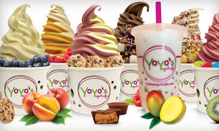 YoYo's Yogurt Cafe - Multiple Locations: $5 for $10 Worth of Frozen Yogurt at YoYo's Yogurt Cafe