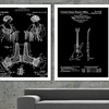 Famous Patent Wall Art on Enhanced Matte Paper