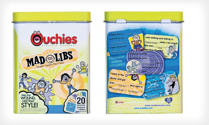 $5.99 for a 2-Pack of Ouchies Mad Libs Bandages