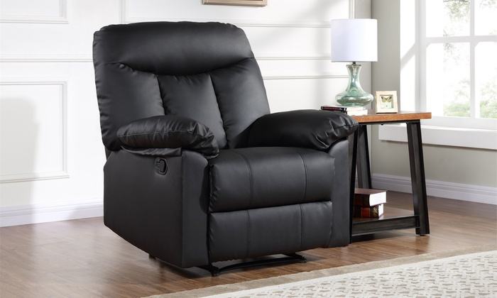 leather recliner chair groupon goods