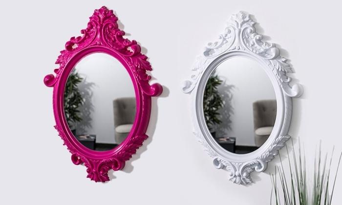 miroir baroque groupon shopping On miroir baroque rose